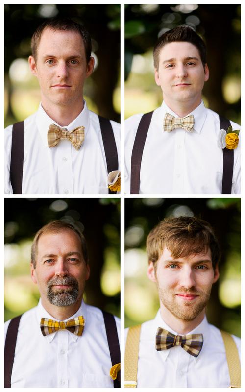 groom & groomsmen in bow ties | handmade North Carolina wedding | Nathan Abplanalp Photography