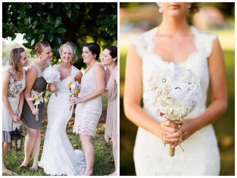 bride & bridesmaids | handmade North Carolina wedding | Nathan Abplanalp Photography