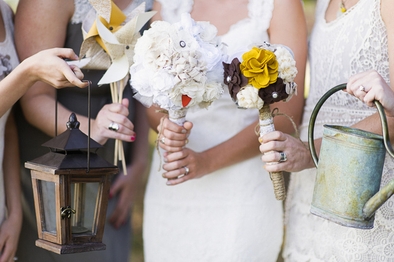 bouquet alternatives | handmade North Carolina wedding | Nathan Abplanalp Photography