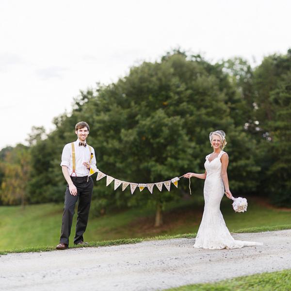 the happy couple | handmade North Carolina wedding | Nathan Abplanalp Photography
