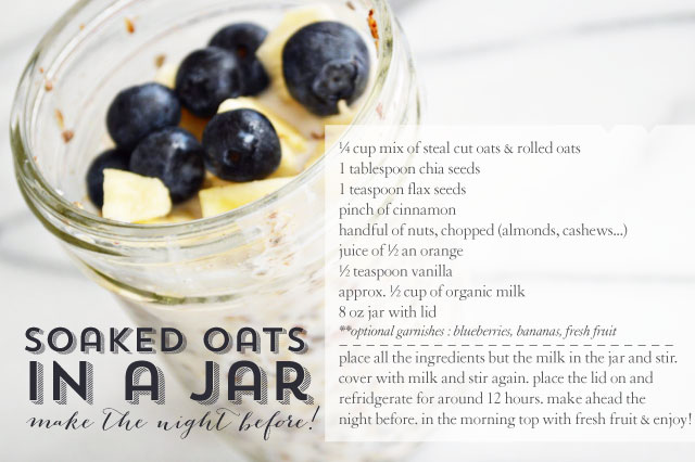 soaked oats in a jar   lovely ever after