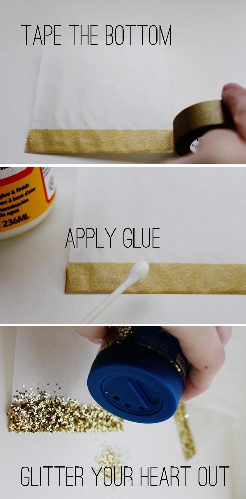 wedding favor confetti bag DIY