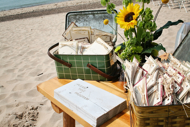 fall beach wedding on lake michigan | markit photography