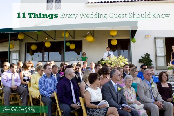 11 things every wedding guest should know from oh lovely day