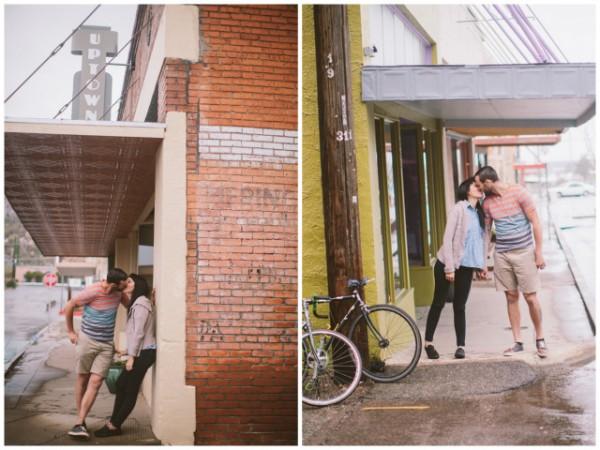 romantic rainy engagement session   brushfire photography