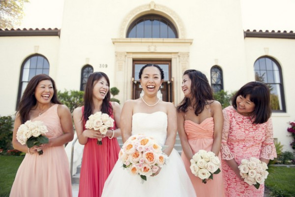 coral anthropologie-inspired wedding by sun and sparrow