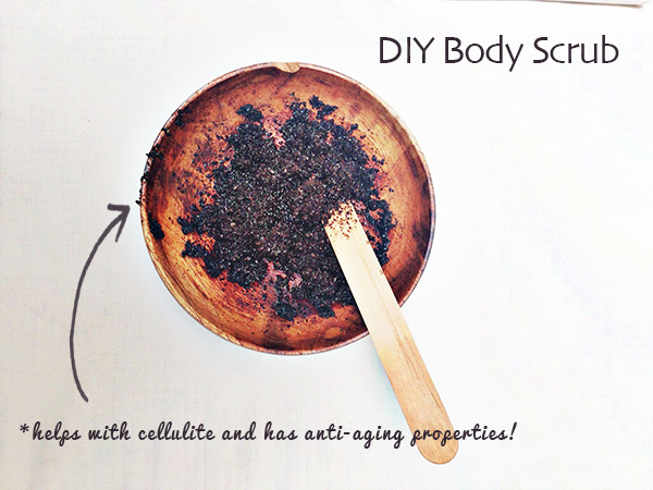 DIY body scrub on oh lovely day