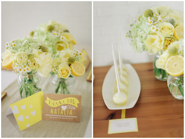 Lemon Yellow Bridal Shower Inspiration | Simply Peachy & Isa Photography