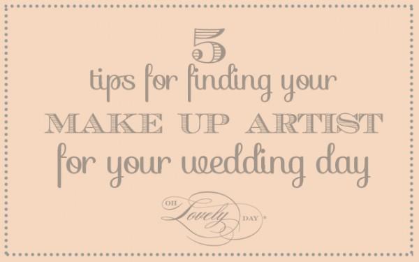 5 tips for choosing a makeup artist for your wedding | elegance by alex on ohlovelyday.com