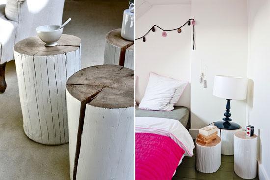DIY tree stump tables | ohlovelyday.com