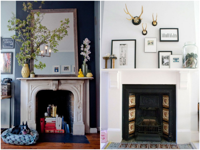 Fireplace styling | Oh Lovely Day