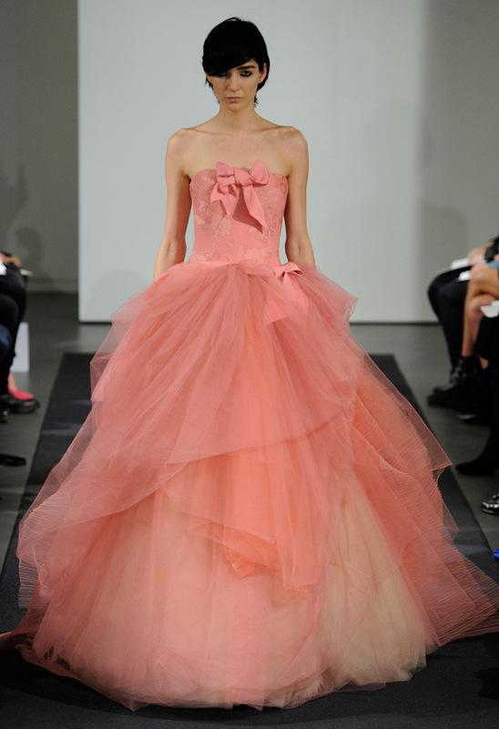 Vera wang bridal collection fall 2014 oh lovely day for Pink vera wang wedding dresses