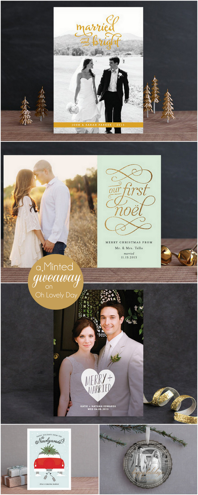 Holiday Cards and A Minted Giveaway on Oh Lovely Day