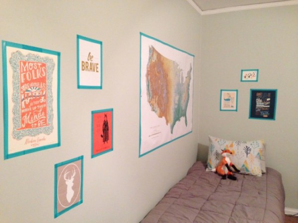 DIY Washi Tape Gallery Wall on Oh Lovely Day