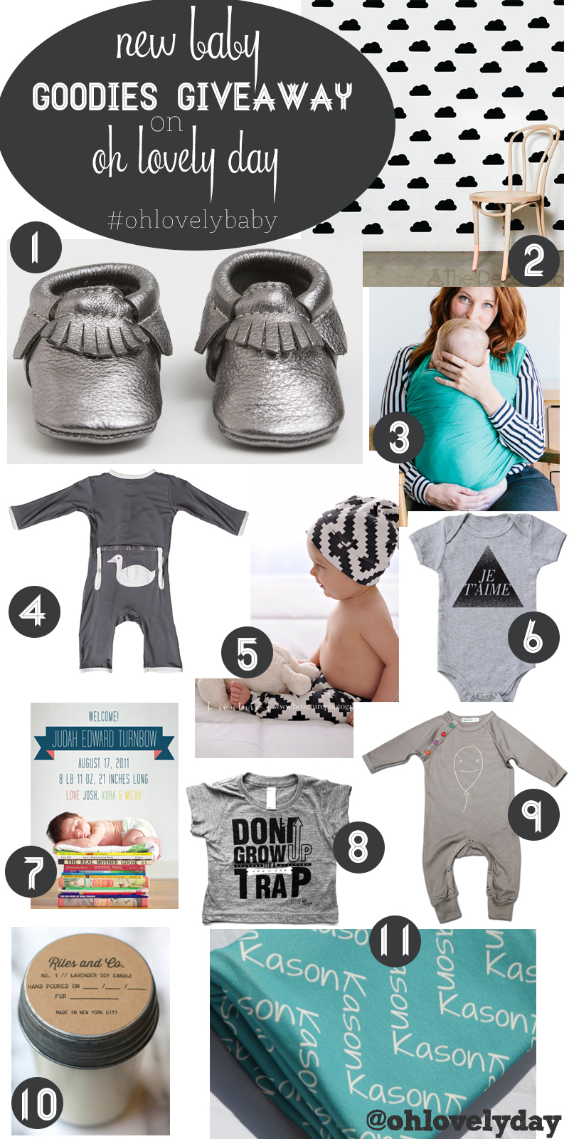 baby goodies giveaway on Oh Lovely Day