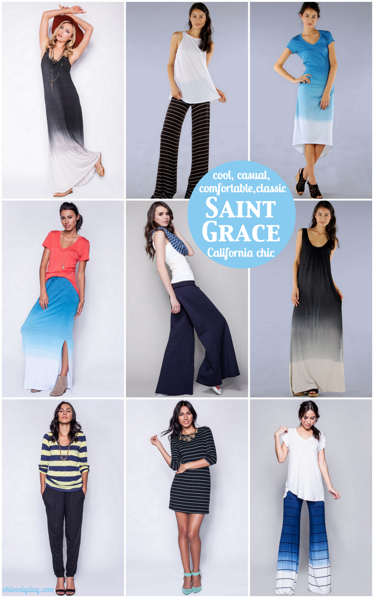 comfortable chic apparel from Saint Grace | Oh Lovely Day