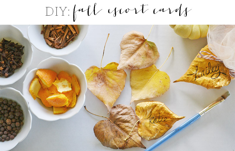 DIY Fall Escort Cards | Oh Lovely Day