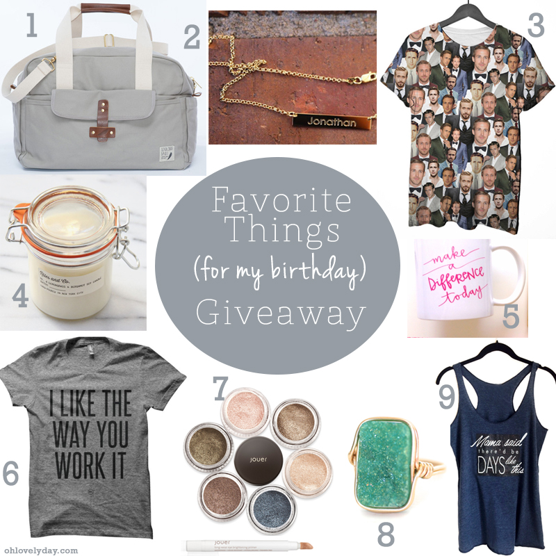 My Favorite Things Giveaway | Oh Lovely Day