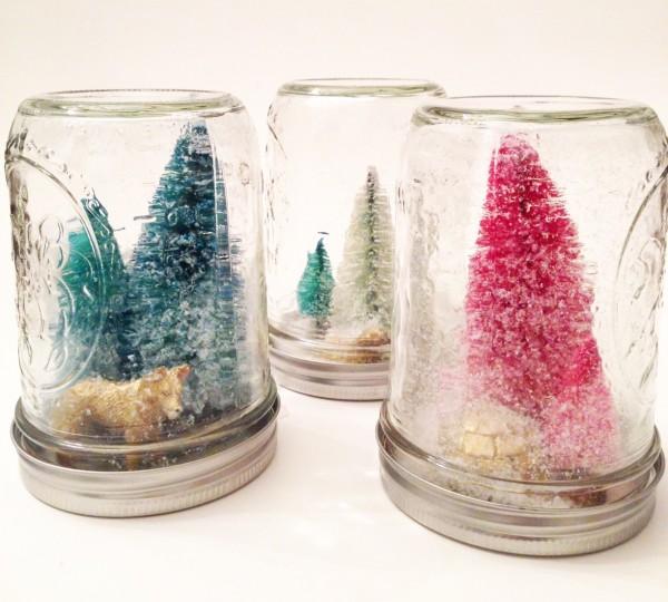 DIY modern mason jar snow globes | Oh Lovely Day