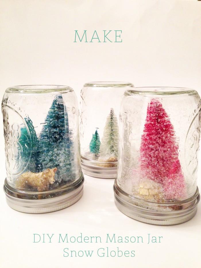 DIYmodern mason jar snow globes | Oh Lovely Day