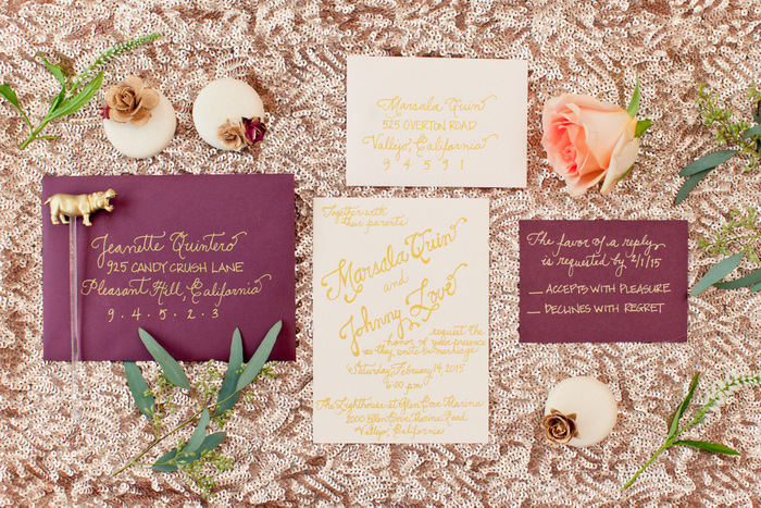 Valentine's Day Marsala Wedding Inspiration | Studio Dizon, Blissful2Be + Candy Crush Shop | Oh Lovely Day