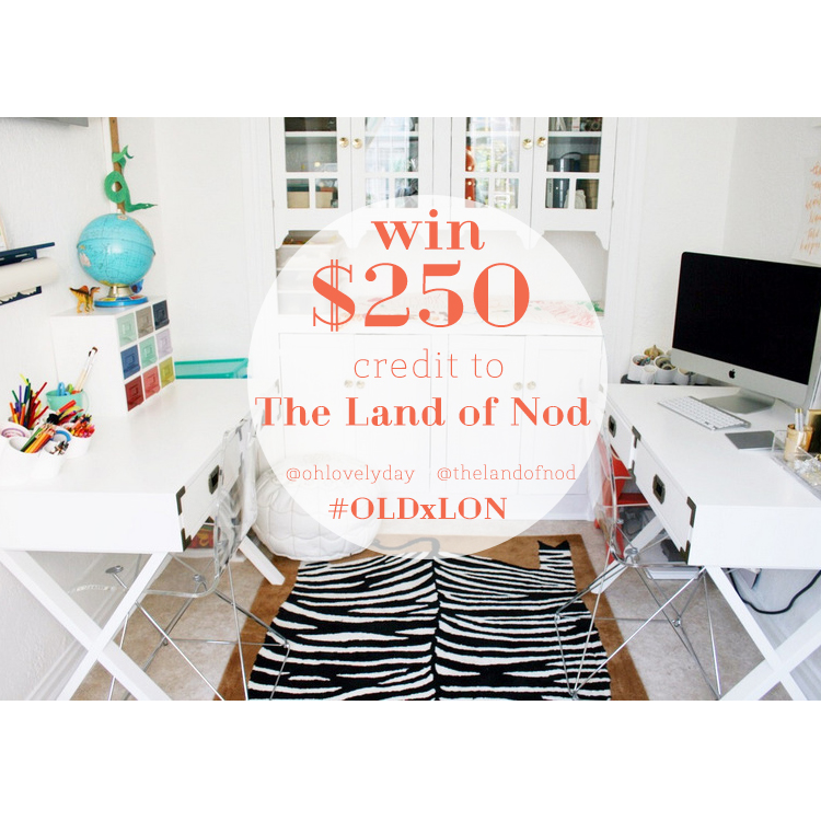 Win $250 to The Land of Nod - Details in Oh Lovely Day's instagram feed: https://instagram.com/ohlovelyday/