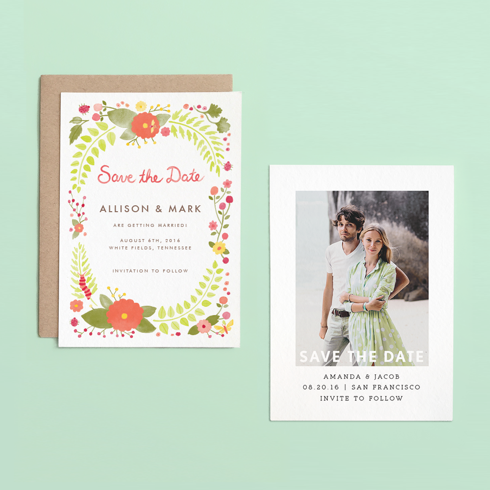 Save the Dates & Thank You Cards the easy way using Postable | Oh Lovely Day