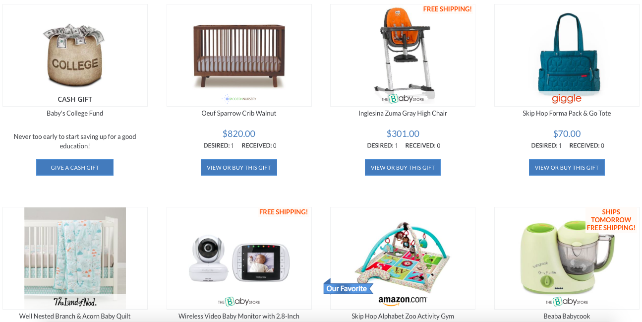 register from anything from anywhere with MyRegistry.com