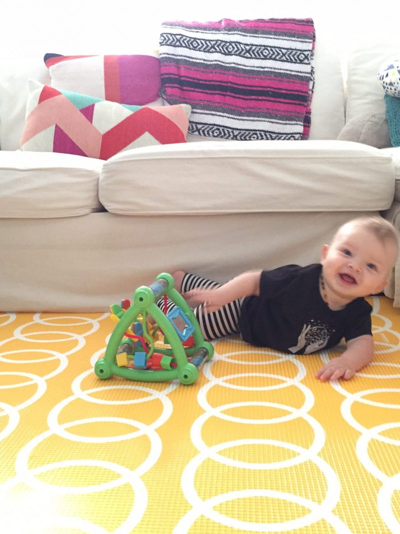 Where'd you get that awesome playmat? Sourcing and reviewing my favorite playmat for baby.