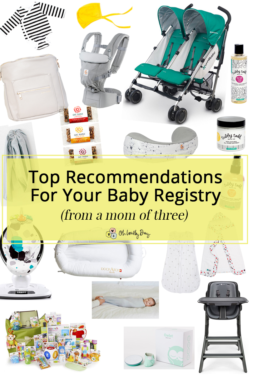 Chandra's Registry Favorites: What you really need on your baby registry, from a veteran mom of three. Plus a giveaway of all her picks! ohlovelyday.com